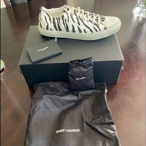 New Saint Laurent Distressed Bedford low sneakers